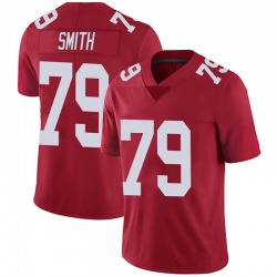 Eric Smith New York Giants No.79 Limited Alternate Vapor Untouchable Jersey - Red