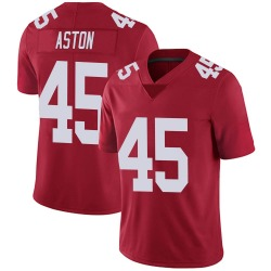 George Aston New York Giants No.45 Limited Alternate Vapor Untouchable Jersey - Red