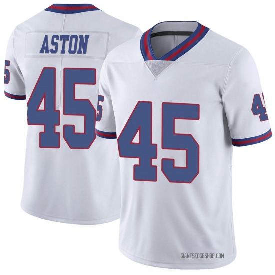 George Aston New York Giants No.45 Limited Color Rush Jersey - White