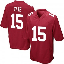 Golden Tate New York Giants No.15 Game Alternate Jersey - Red