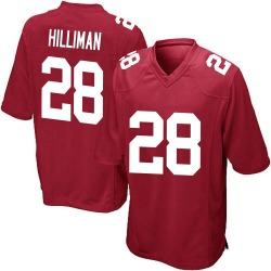 Jonathan Hilliman New York Giants No.28 Game Alternate Jersey - Red